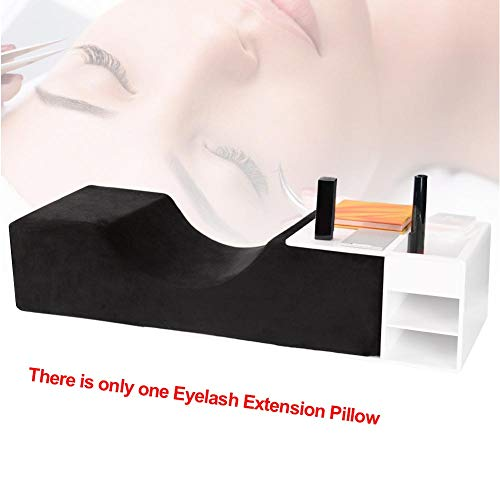 Eyelash Extension Pillow Headrest Makeup Tools Grafted Support Neck Soft Stand Anti Slip U Shape Salon Ergonomic Waterproof Professional(Black)