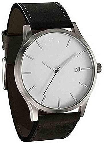JZDH Mano Reloj Relojes de Pulsera Relojes para Hombre Pareja Moda Cuero analógico Cuarzo Redondo Muñeca Reloj Reloj Masculino Relojes Decorativos Casuales