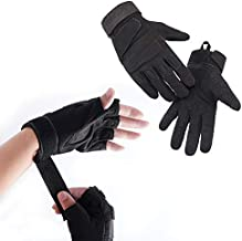 Outdoor Full Finger Half Finger Climbing Gloves?Using for Climbers?Rock Climbing, Adventure and Outdoor Sports (M)
