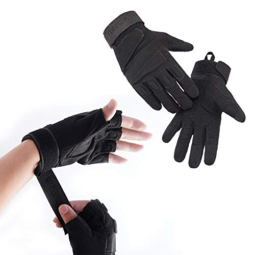 Outdoor Full Finger Half Finger Climbing Gloves,Using for Climbers,Rock Climbing, Adventure and Outdoor Sports (XL)