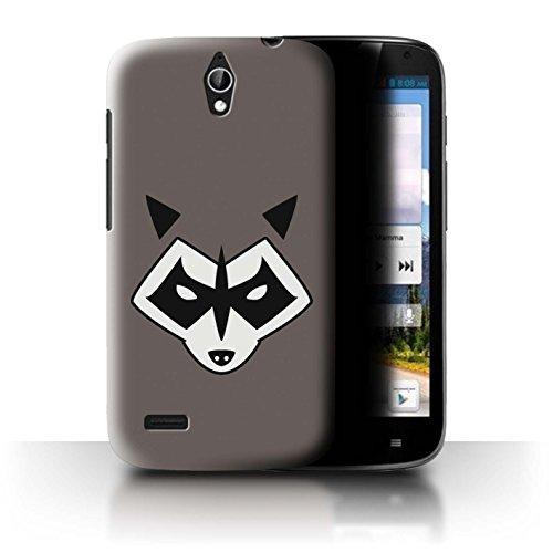 Hülle Für Huawei Ascend G610 Superheld Comic-Kunst Rocket Raccoon Inspiriert Design Transparent Ultra Dünn Klar Hart Schutz Handyhülle Hülle