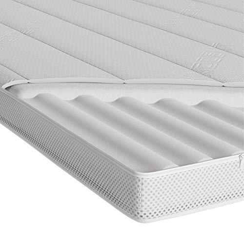 INNOCENT® 3D-Air 7-Zonen Topper 300gm2 | 7cm Höhe | 180 x 200 cm | 3D-Air-Flow | Kaltschaum Matratzenauflagen 7cm Höhe | Comfort Foam Matratzenschoner | für Betten & Boxspringbetten Bettauflage