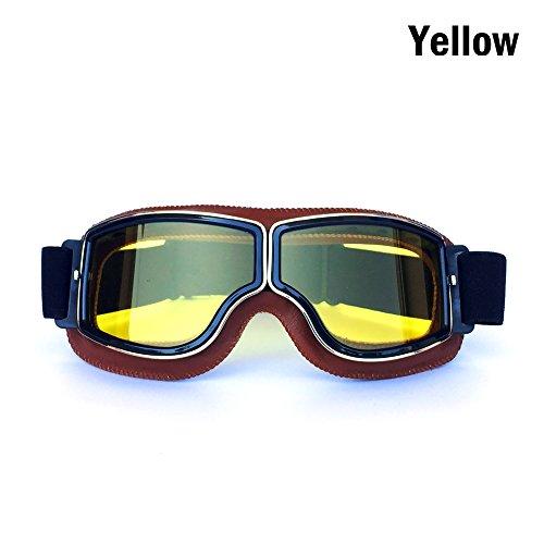 HONCENMAX Gafas de Moto Retro Vintage Gafas de Protección Gafas, Estilo Vintage, para Deportes Aire Libre - Retro Gafas Moto Mascara Vintage Scooter Gafas