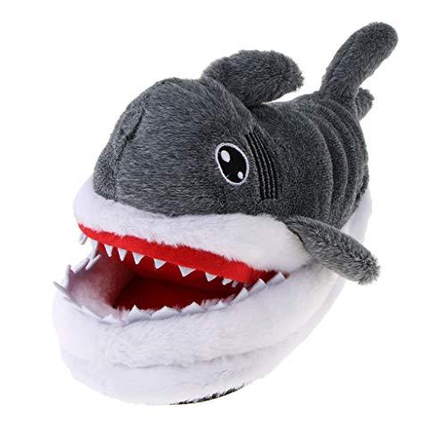 IPOTCH Zapatillas de Estar por Casa de Tiburón de Vellón C