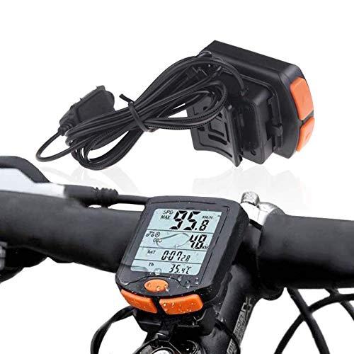 Inalámbrico Velocímetro De La Bici del Ordenador con Pantalla Impermeable Función De Visualización Y El Ciclo Automático