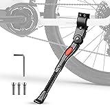 Pata de Cabra para Bicicleta, phixilin Aluminio Soporte Ajustable Bicicleta Kickstands Bicicleta Caballete Lateral Se Adapta a 24'-29' MTB Montaña, Carretera