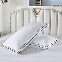Gehannah Bed Pillows for Sleeping(2 Pack), Luxury Plush Soft Pillow with Home and Hotel, Breathable Microfiber Cover Skin-Friendly Pillows for Side Back Sleepers (King)