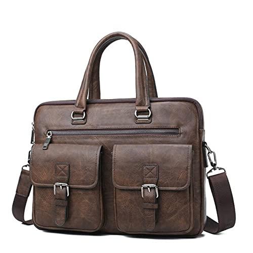 Maletín de negocios bolso 2 piezas/set bolso de hombro de cuero dividido bolso de oficina para hombres adecuado para computadora portátil de 13 pulgadas