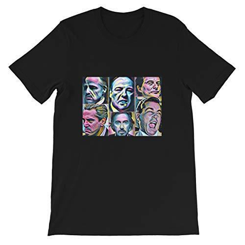 Gangsters Painting Movie Goodfellas Godfather Casino Scarface Sopranos Michael Corleone Vito Corleone Funny Gift for Men Women Girls Unisex T-Shirt (Black-XL)