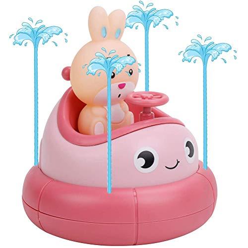 Nargut Kinder Springbrunnen Badespielzeug für Baby Kinder Badewanne Spielzeug Spray Wasser Spielzeug Vorschule Badezimmer Dusche Schwimmbad Spielzeug Rose