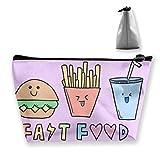 Fast Food Friends Women Makeup Bags Bolsas de Organizador de artículos de tocador multifunción, Bolsa portátil de Mano Capacidad de Almacenamiento de Lavado de Viaje con Cremallera (Trapezoidal)