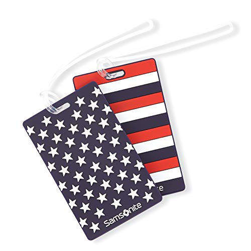 Samsonite Designer Luggage ID Tag, Stars & Stripes, One Size