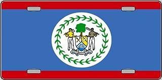 Pride Plates -Belize Flag License Plate