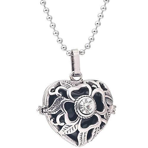 XLTWKK Glockenspiel Ball Herz Strass Anhänger Halskette Ring Halskette Damenschmuck Halskette Dekoration Zubehör