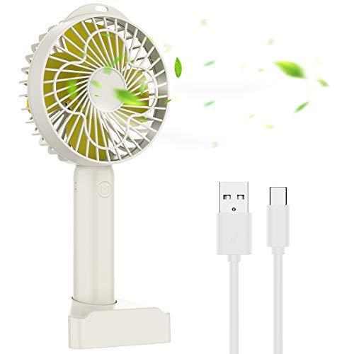 MISCOOK Handheld Fan, Portable USB Mini Personal hand Fan, Desk Fan with...