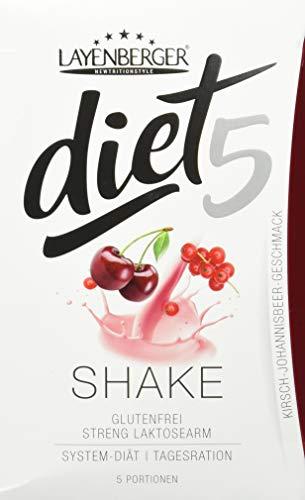 Layenberger diet5 Shake Kirsch-Johannisbeer Geschmack, 5 Stück