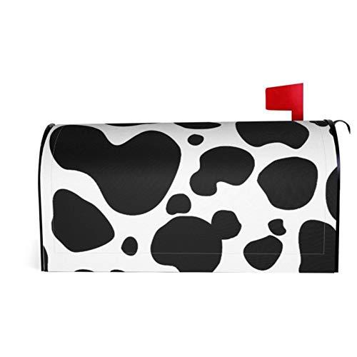 Granbey Magnetischer Briefkastenüberzug mit Kuh-Punkten, schwarz-weiße Kuh-Punkte, Tierfelldruck, Polyester, farbbeständig, wasserdicht, langlebig, für Gartendekoration, 53 x 45 cm