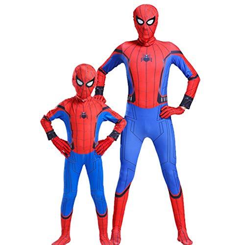 Nio Adulto Spider-Man: Disfraces De Homecoming Carnival De Halloween Cosplay Fancy Dress Traje 3D Impresin De Impresin Mono De Traje para Party Pelcula Disfraz Accesorios,Spiderman-100~110cm