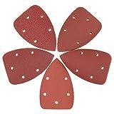 BSP 50 PCS Mouse Detail Sander Sandpaper Sanding Paper Assorted 40/80/120/180/240 Grits Mouse Sandpaper