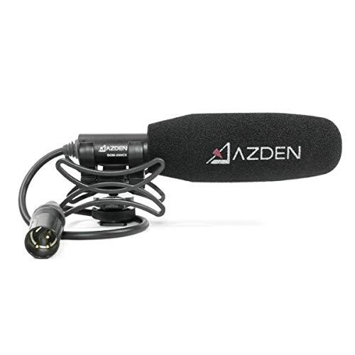 Azden SGM-250CX - Micrófono para videocámaras con Entrada de Audio XLR, Color Negro