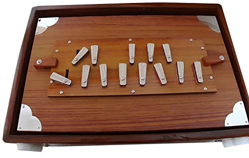 432Hz Big 39cm Größe indische Teak Shruti Box für Bhajan Kirtan Barock Musik 432Hz nicht 440Hz
