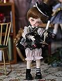 SPLLEADER 17.5cm Bambola BJD 1/8 SD Dolls Bambola con Snodo Sferico con Vestiti Parrucche Scarpe Trucco Giocattoli FAI-da-Te per Ragazza Regalo di Compleanno
