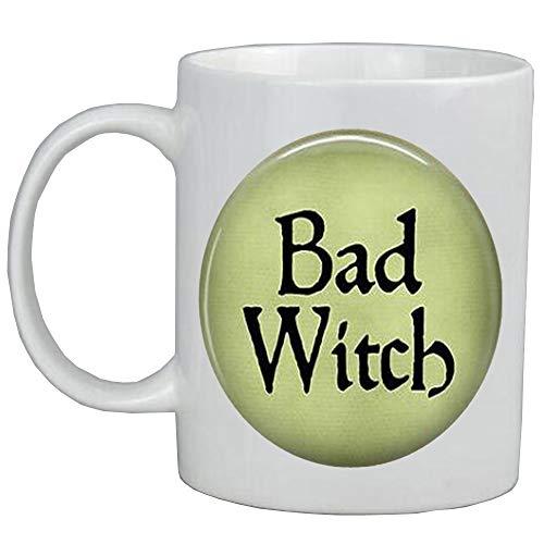 Taza de caf Bad Witch taza de caf bruja malvada, joyera de bruja malvada, disfraz de bruja, joyera de bruja malvada, taza de caf de la bruja del oeste, AS0258