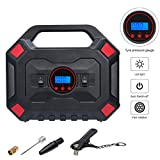 Tyre Inflator 12V 150PSI Digital Air Compressor Pump Auto Car Tire Pump with Pressure Gauge LED Light, Long...