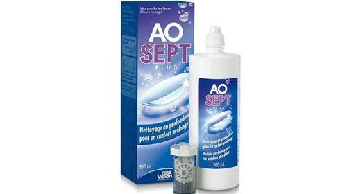 Aosept Plus für harte und weiche Linsen, 360 ml