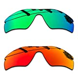 SEEABLE Premium Polarized Mirror Replacement Lenses for Oakley Radar Path Sunglasses - Jade Mirror+Fire Orange Mirror