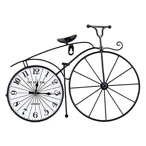 YXX Relojes De Escritorio Estilo Americano Creatividad Retro Bicicleta Reloj De Hierro Craft Personalizado para Regalos Y Decoración del Dormitorio para El Hogar 37.5x27cm / 14.8x10.6in
