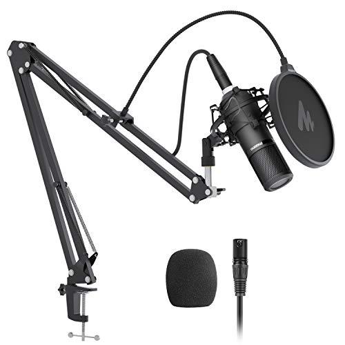 Juego de micrófonos de condensador XLR MAONO AU-PM320S Micrófono profesional de grabación de estudio de voz vocal para streaming, voz en off, proyecto, estudio en casa