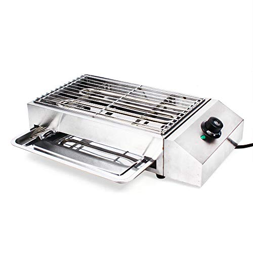 Indoor Outdoor BBQ Portable Electric Grill Griddle, Barbecue Smokeless Cooking Bbq Oven Barbecue Pan Grill Machine Bbq Equipment Commercial Flat Top Grill Hot Plate