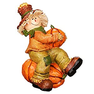 -Our scarecrows table decor figurines are hand made by professional artisans, lifelike and realistic, exquisite and colorfast, lightweight and durable, non-toxic and odorless. Please order with confidence. This adorable scarecrow decoration is inspir...