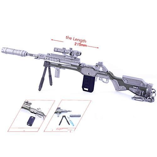 LINLUO Game Collection 1/6 Metall G7 Scout Sniper Gewehr Gewehr Modell Schlüsselanhänger Kunst Spielzeug Geschenk Rucksack Anhänger Party Supplies Schreibtisch Dekoration Pistole