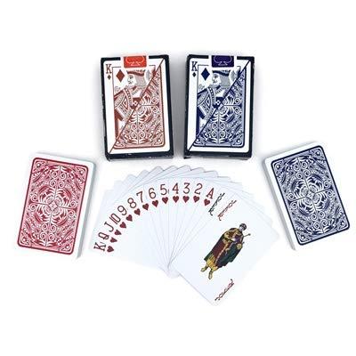 Ohne Markenzeichen OEFHEIOWJO 2 Sätze/Los Baccarat Texas Hold'em Plastikspielkarten Wasserdichtes Poker-Karten Pokerstar Brettspiele 2.28 * 3.46 Inchn (Color : 1Red 1Blue)