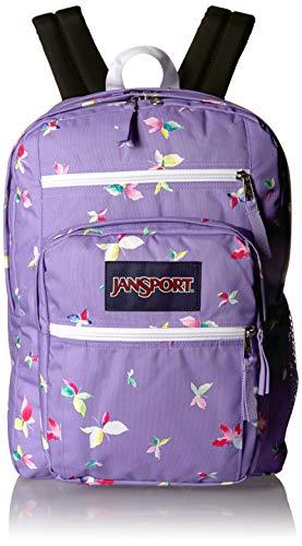 JANSPORT JS0A47JK Big StudentJanSport Big Student Backpack - 15-inch Laptop Bag, Purple Dawn Butterfly Kisses, One Size