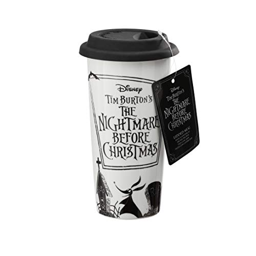 Funko UT-NBC05928 The Nightmare Before Christmas Lidded Mug, Porcelain, Multicolour, 16oz