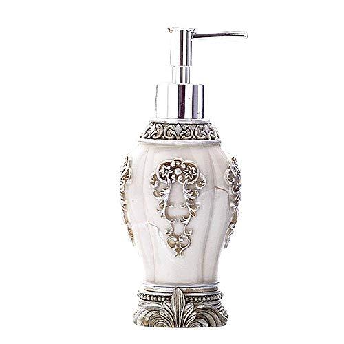 YXISHOME Schwarz/weiß flüssige Emulsion Seifenspender Retro Harz Kunsthandwerk handgemachte Flüssigseife für Badezimmer Küche Wohnkultur weiß