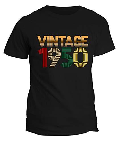fashwork T-Shirt Maglietta Regalo Compleanno Uomo 71 Anni Vintage 1950 - Idea Regalo