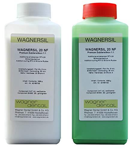 WAGNERSIL 20 NF Premium Silikon Kautschuk Dubliersilikon grün (weich) 2 kg