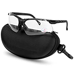 Anti Fog Anti Scratch Polycarbonate UV400 Lens blocks 99.9% of harmful UV rays Soft Rubber Nose Pieces for a comfortable fit without the slipping Wrap-around Lens gives full sidee vision and mazimum protection Lightweight Semi-rimless Black Frame giv...