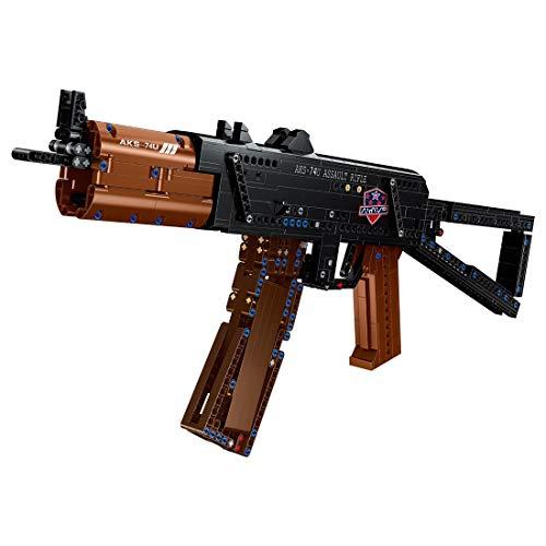 DAN DISCOUNTS Juego de construcción para armas de tiro, 881 bloques de construcción 74U con función de disparo, compatible con Lego