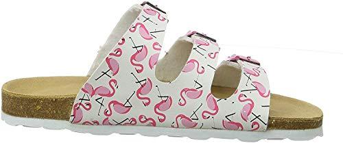 Richter Kinderschuhe Mädchen Bios 5502 Pantoletten, Weiß (weiss/Print flamingo 0100), 28 EU