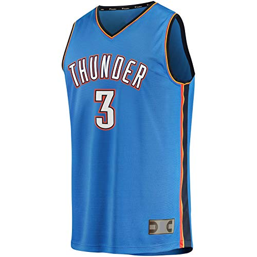 DENGPAO Chris Traning Jersey Fast Break Player JerseySports Oklahoma Camiseta Paul Thunder #3 Fast Break Player Jersey Icon Edition-XXL