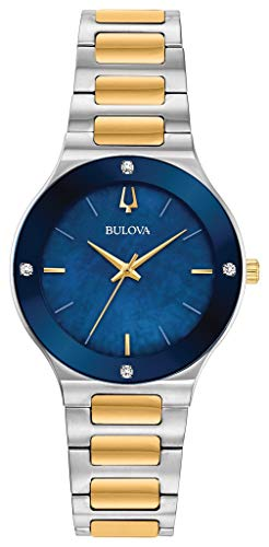 Bulova Reloj Analógico para Mujer de Cuarzo con Correa en Acero Inoxidable 98R273