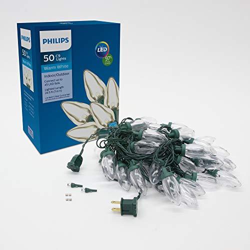 Philips 50 LED Warm White Smooth C9 Christmas Lights