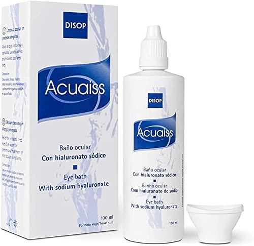 Acuaiss Baño Ocular con Acido Hialurónico para la Limpieza, Hidratación y Alivio de los Ojos (100 ml)