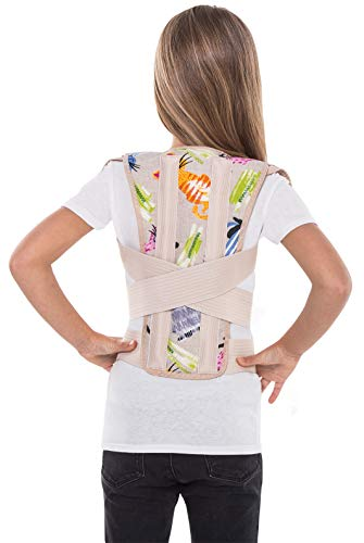 Corrector postural; soporte para espalda; para niños y adolescentes, jóvenes y adultos X-Small Pink