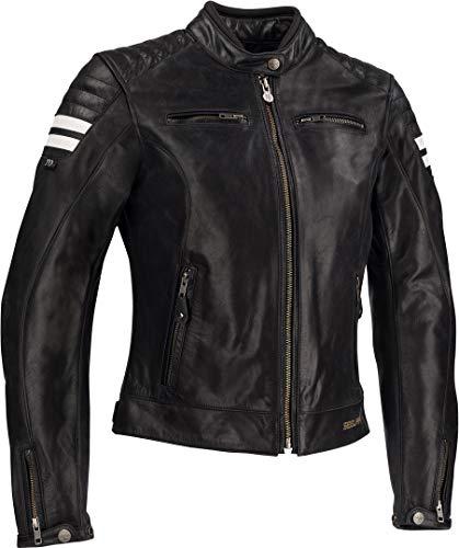 Segura Chaqueta moto LADY STRIPE Negro/Blanco, Negro/Blanco, 44 (T4)